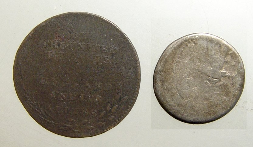 Roman Denarius of Marc Antony and a British token - 2