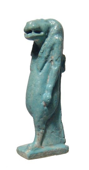 Egyptian faience amulet of Taweret