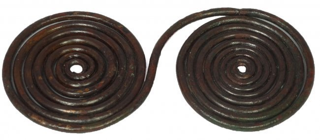 A Villanovan bronze spectacle brooch, Etruria