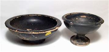 A pair of Greek pottery vessels
