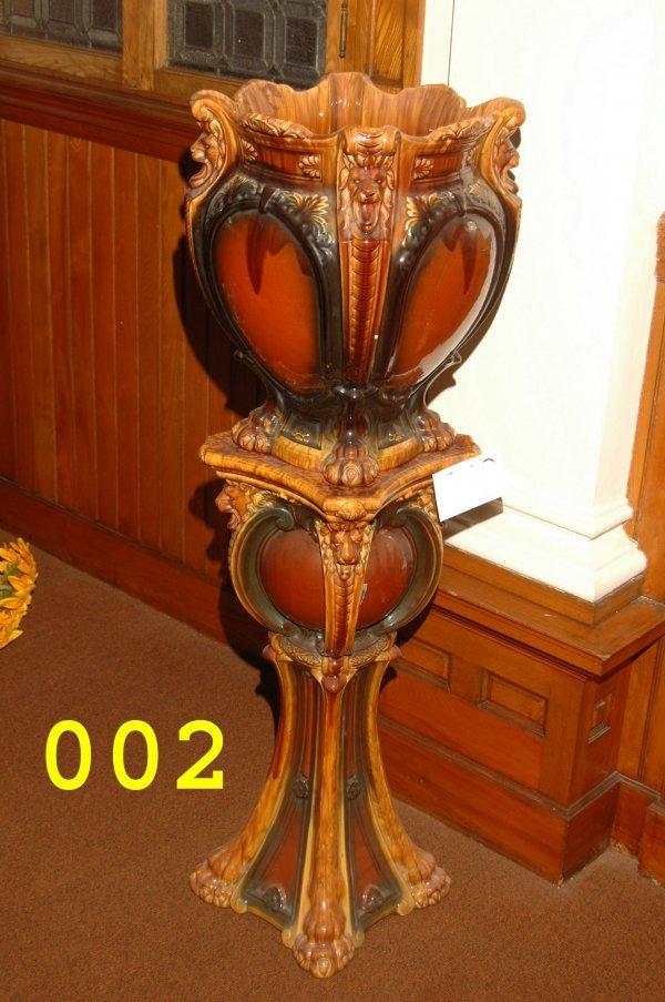 2: Art Pottery Urns and Pedestals