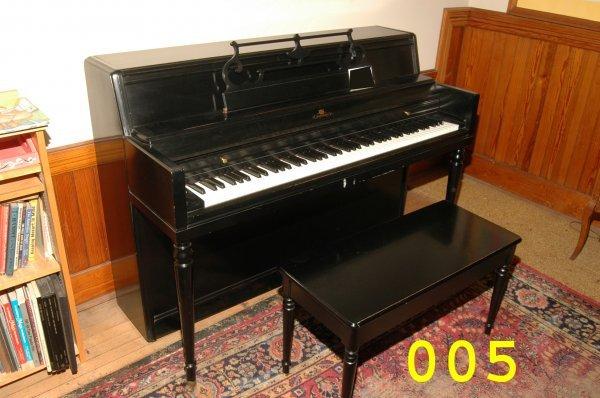 5: Wurlitzer piano with bench