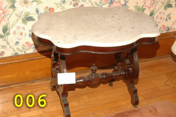 6: Marble Top Table
