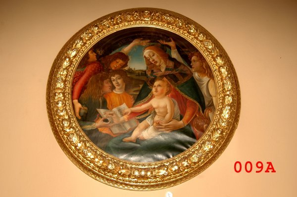 Oil on canvas Gesso Mary & child w/angels