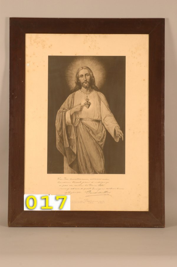 17: Print of Jesus with Sacred heart