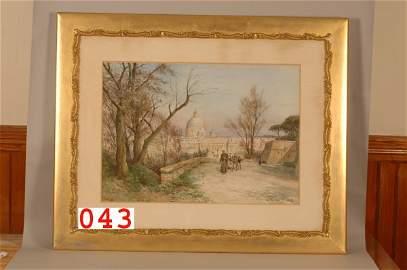 43: Watercolor E. Roesler Franz Roma