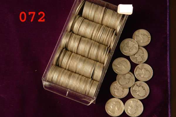 72: Lot of silver quarters