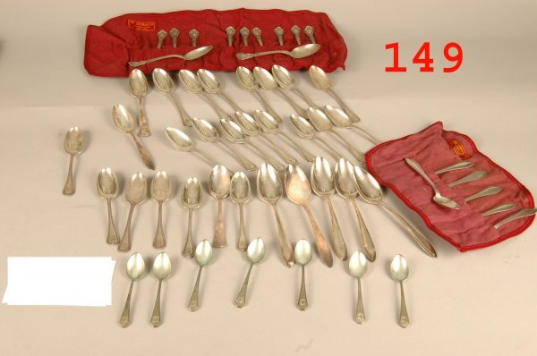 149: 53 pieces sterling spoon lot