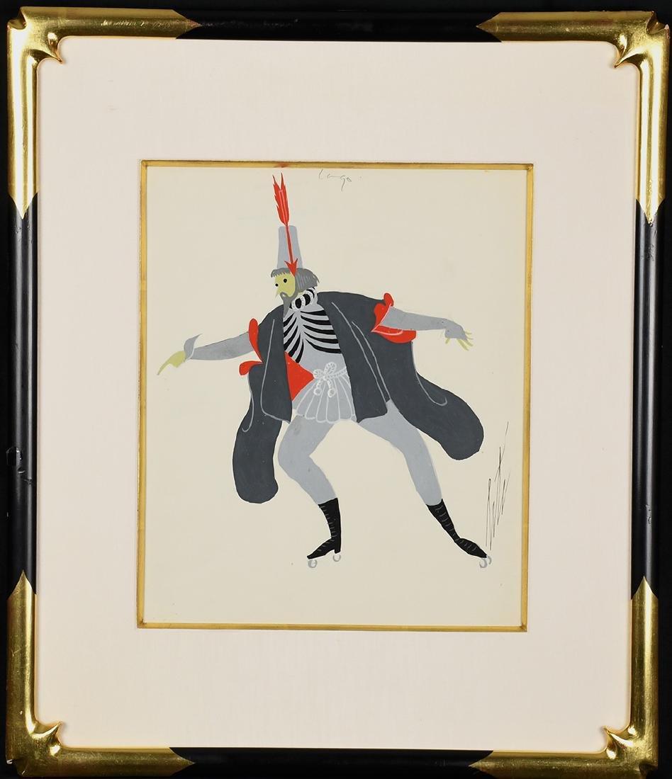 Iago Framed  Gouache by Erte