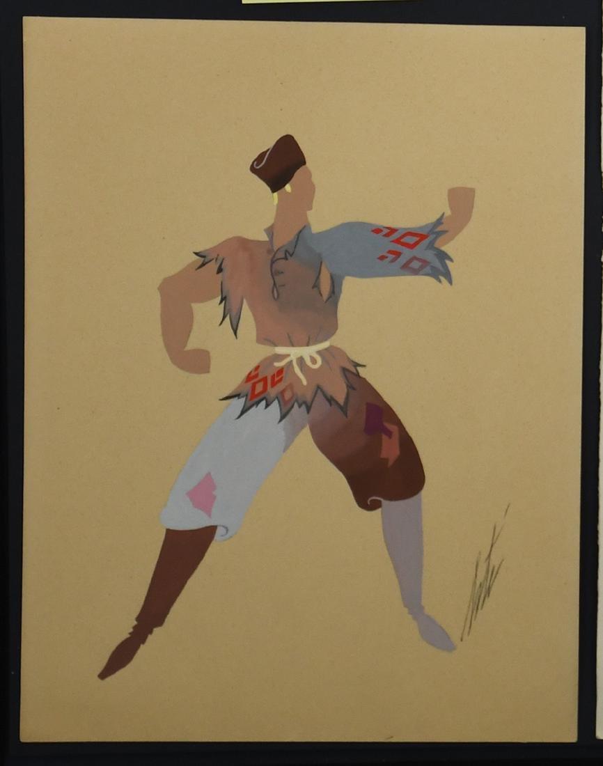 Russe (Ballet) Gouache by Erte