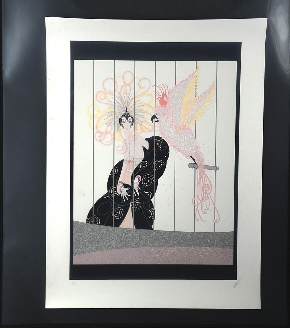 The Bird Cage Serigraph by Erte