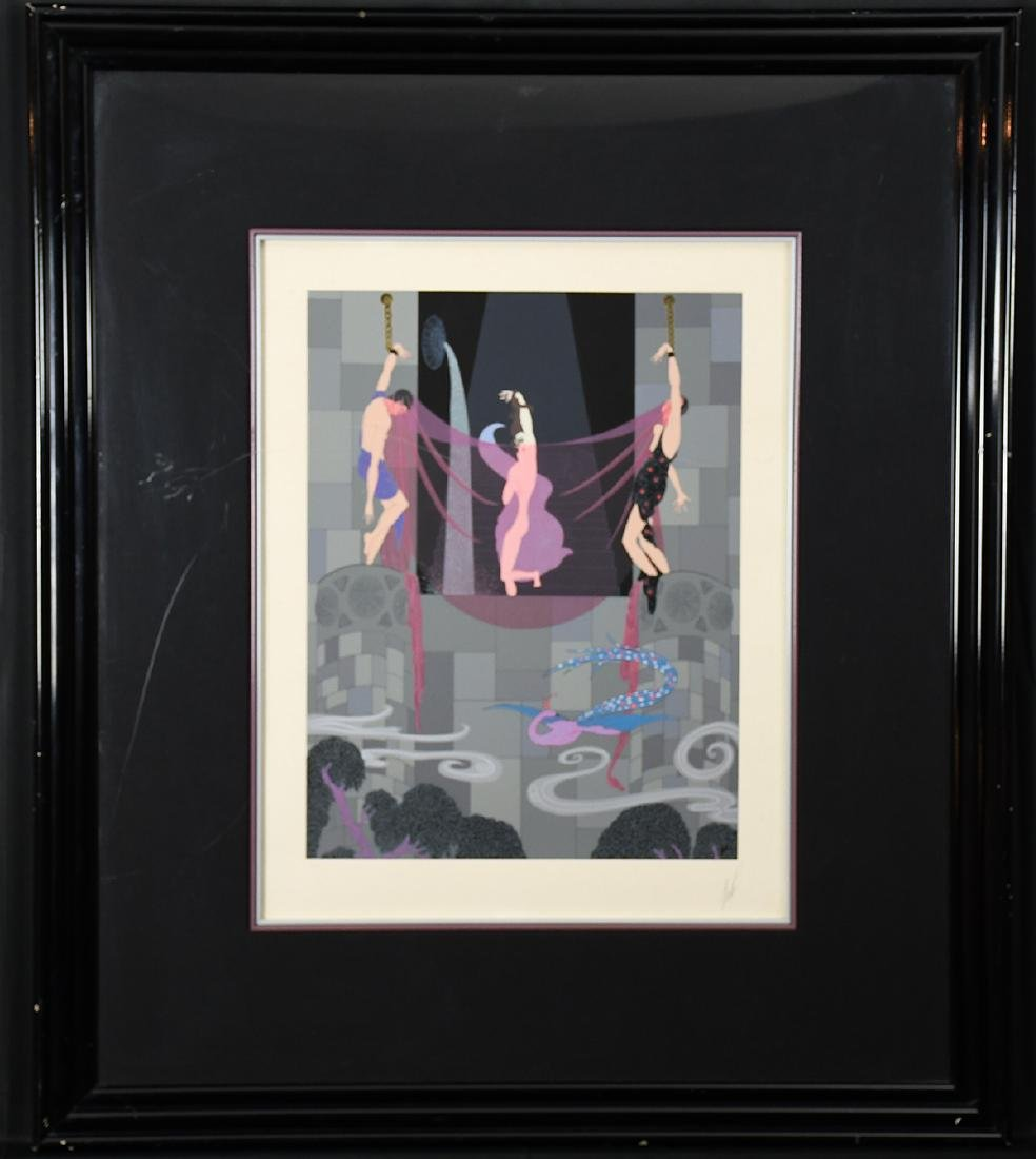 The Chaste Susanna Serigraph by Erte with Frame