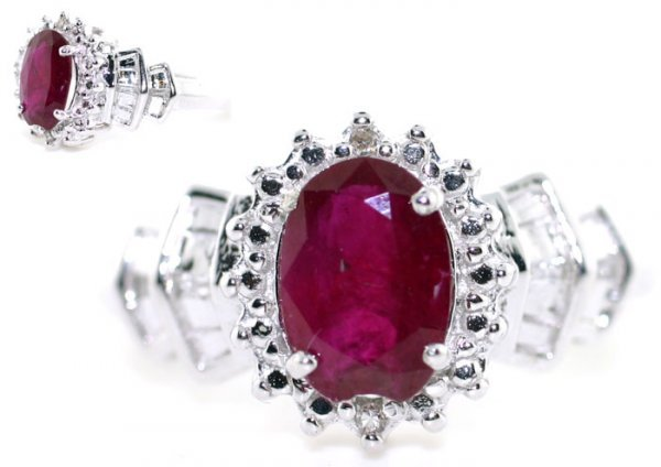 1: 1.20 Ct Diamond and Tourmaline 10K Gold Ring