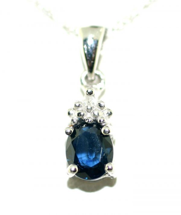 6: 0.50 Ct Diamond Sapphire 10K Pendant