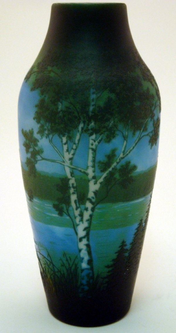571: Early 20th Century D'Argental Cameo Glass Vase