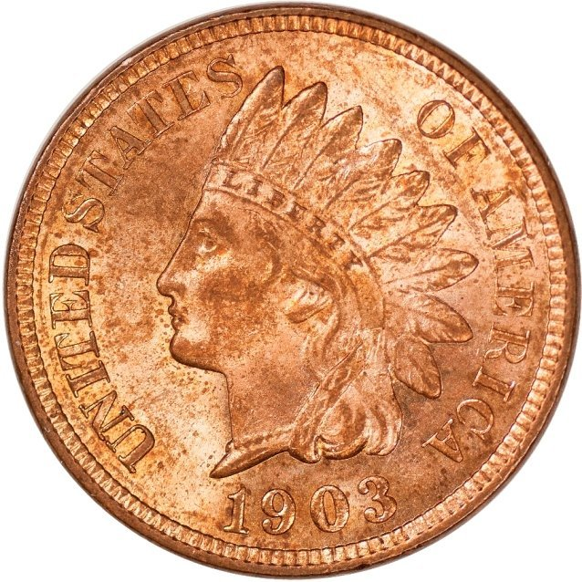 1903 Indian Cent, Red Uncirculated