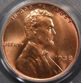 Stunning 1938 Cent, PCGS MS67 Red