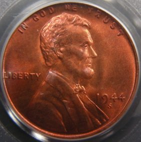 1944-S Lincoln Cent, PCGS MS67 Red