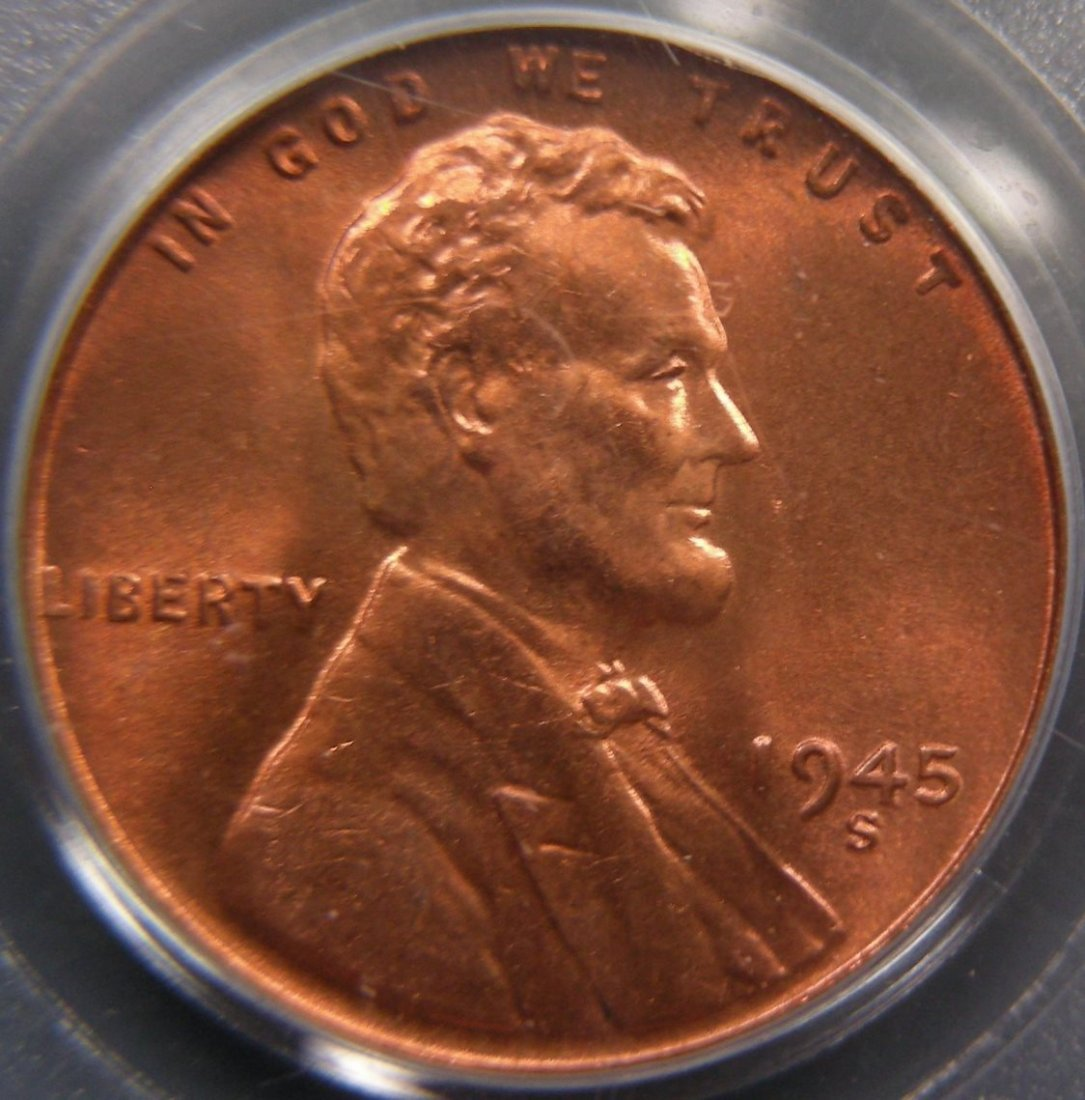 1945-S Lincoln Cent, PCGS MS67 Red