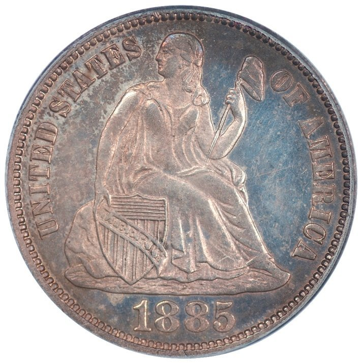 1885 Seated Liberty Dime PCGS PR63