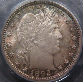Stunning 1892 Barber 25C, PCGS MS66, CAC