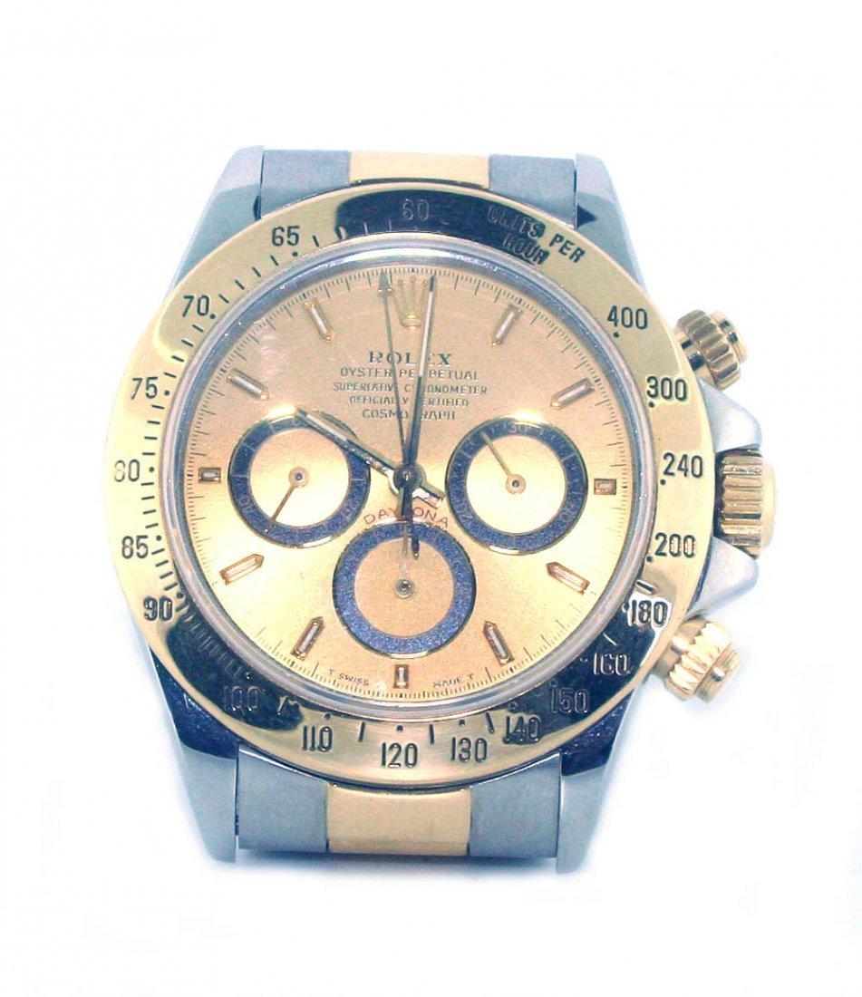 Men's Rolex Daytona  Two Tone Gold & Steel