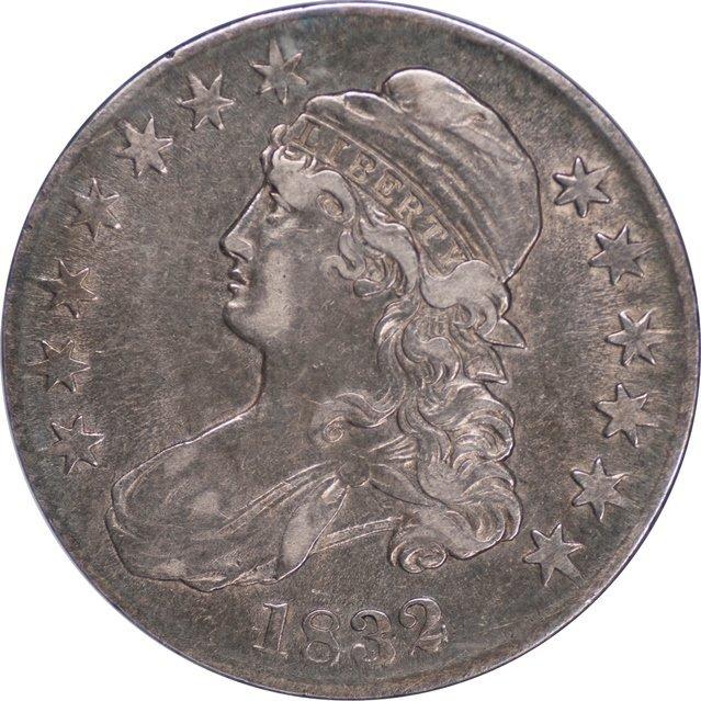 Original 1832 Bust 50C, ANACS XF40 (65850)