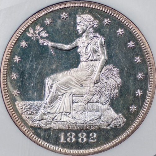 Exceptional 1882 Trade Dollar, NGC PF64 Cameo (41622)