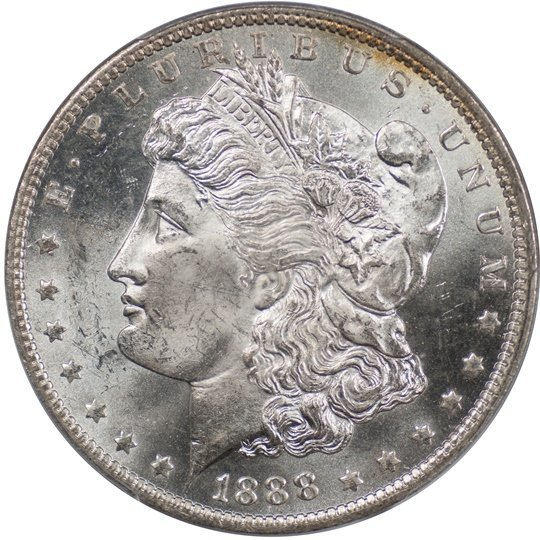 1888-O Morgan $1, PCGS MS65 (67233)