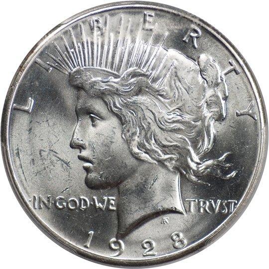1928 Peace Dollar, PCGS MS63 (67243)