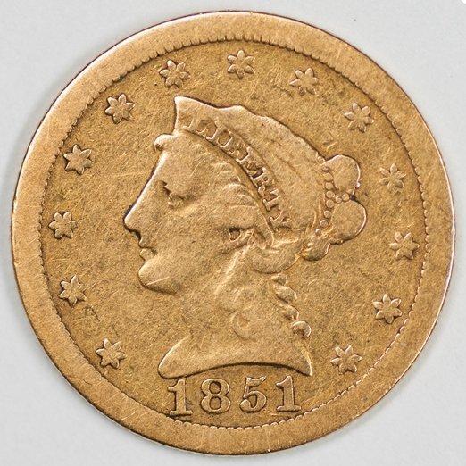 1851-O Quarter Eagle, Nice VG Condition (64554)