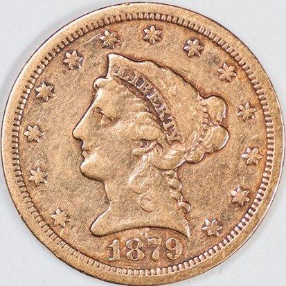 1879-S Quarter Eagle, Raw VF (65939)