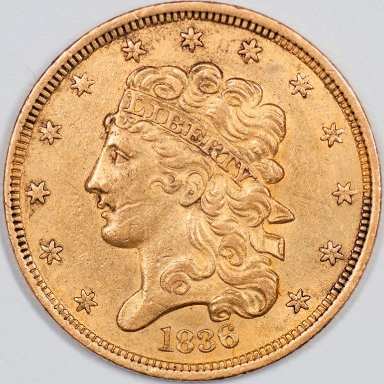 1836 Classic Head Five Dollar Gold, Uncertified (46945)