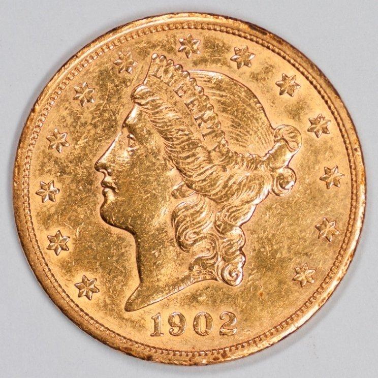 1902-S Twenty Dollar Gold Piece (66699)