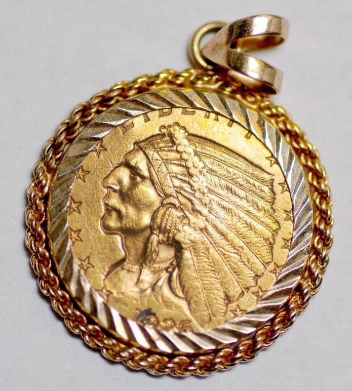 1926 Quarter Eagle in Bezel (59327)