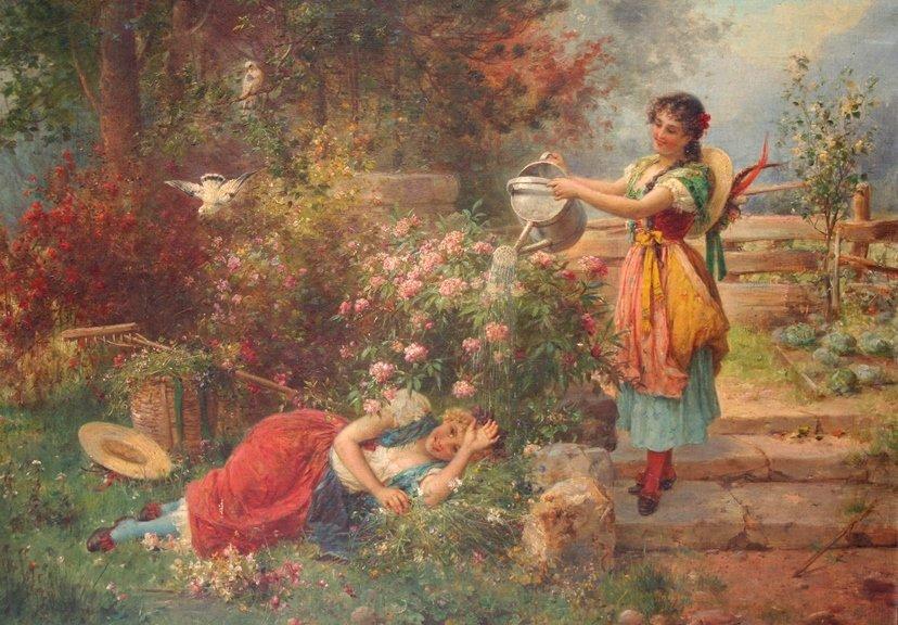 Hanz Zatska Oil Painting
