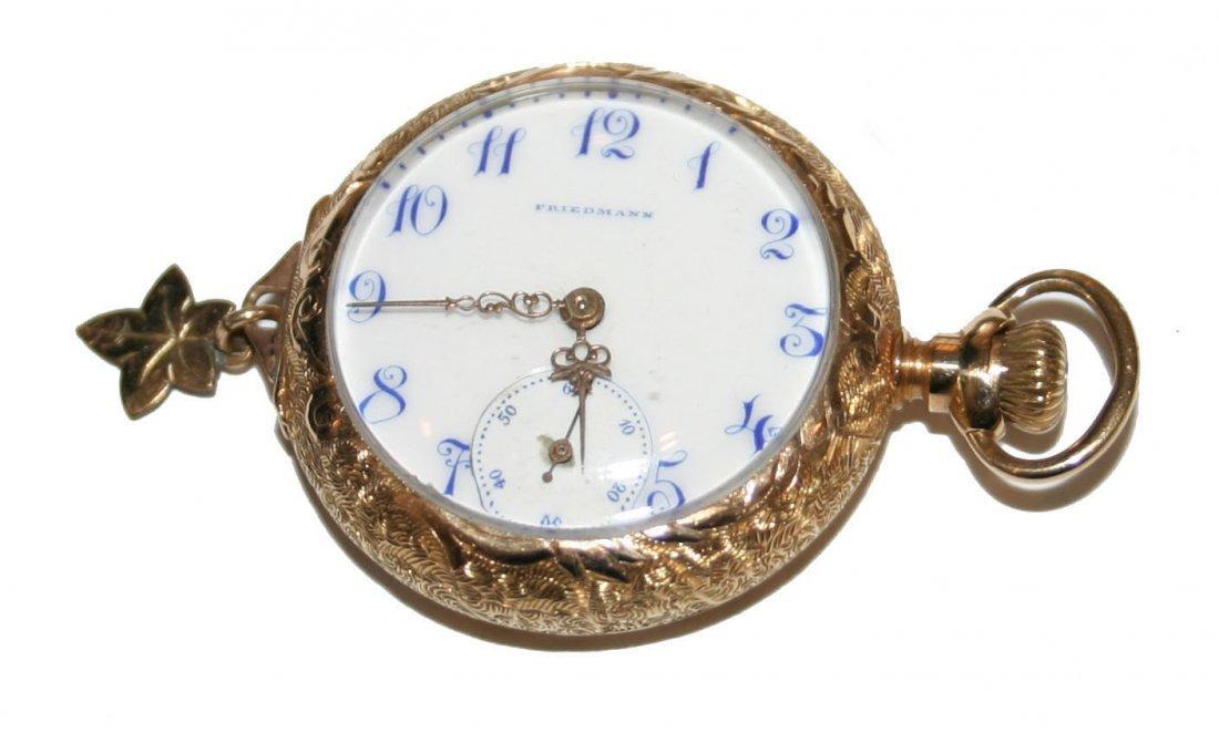 14k Gold Miniature Friedman Pocket Watch (3793)