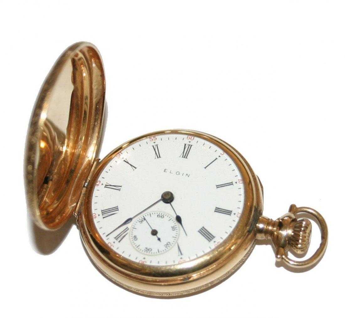 Elgin Keystone 14k Gold Miniature Pocket Watch (3804)