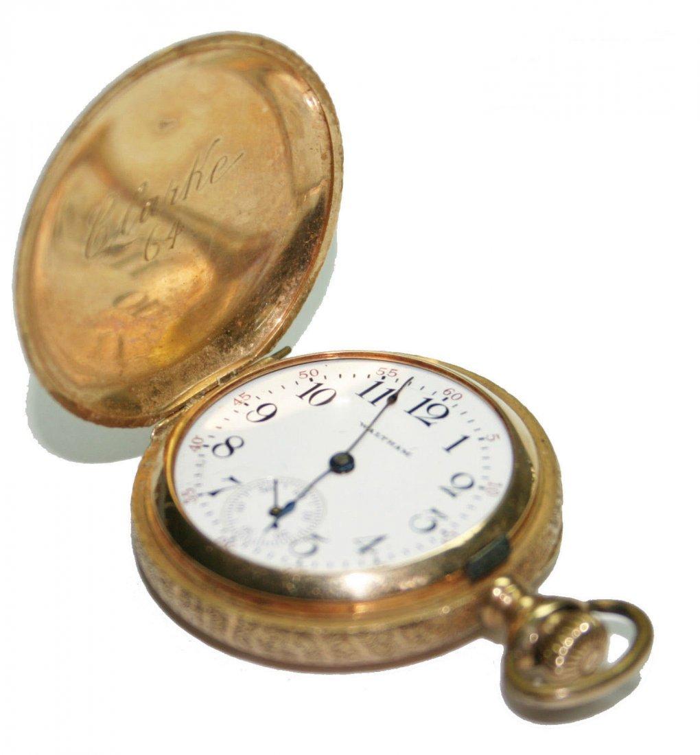 14k Gold Waltham Hunters Case Pocket Watch (2575)