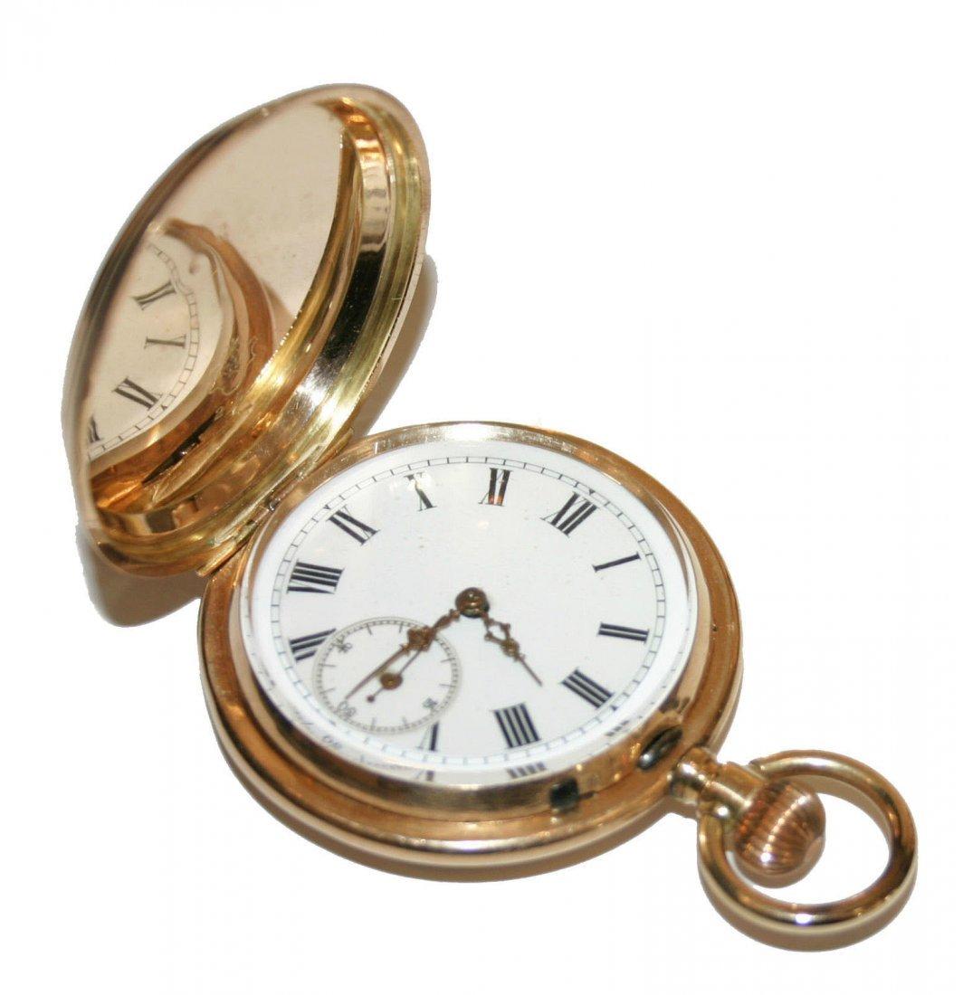 AGW 14k Yellow Gold Mens Pocket Watch (3808)