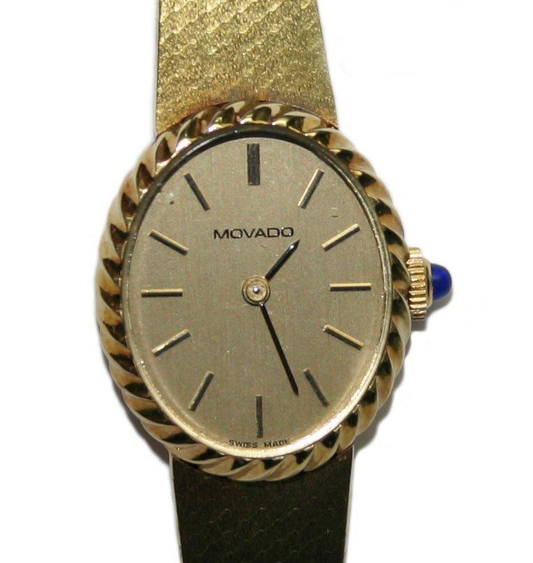 Movado 14K Yellow Gold Women Wristwatch (2748)