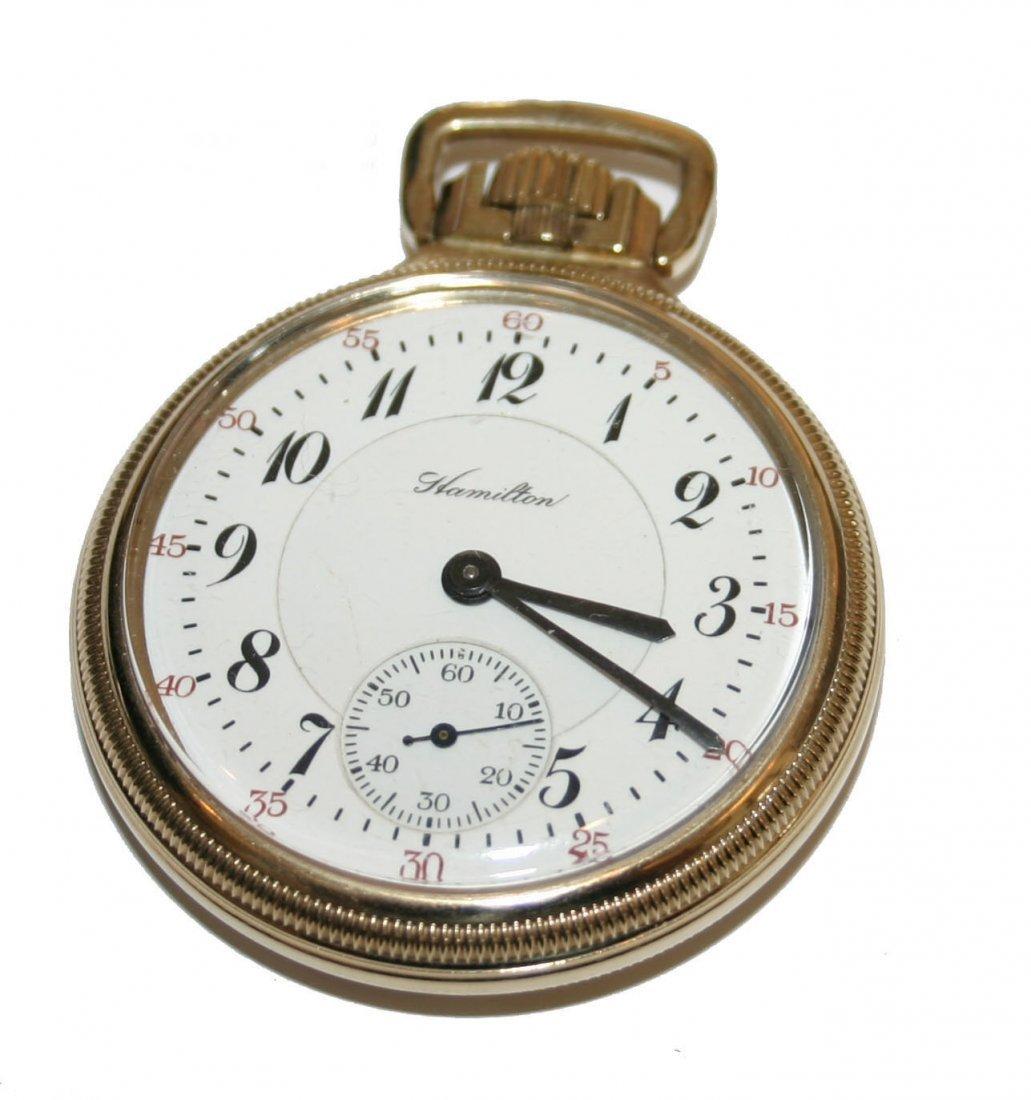 Hamilton 10k Gold 23 Jewel Pocket Watch Model #950 Circ
