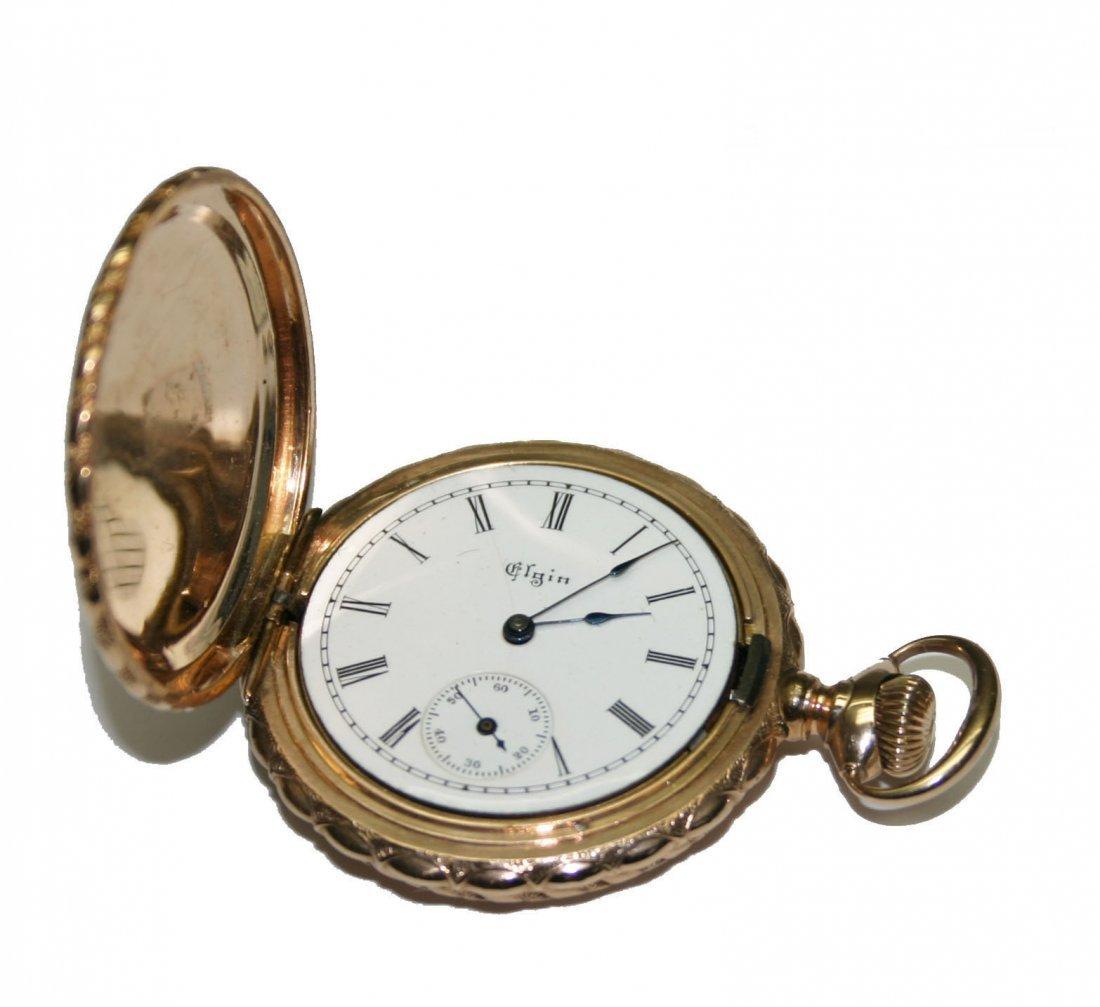 Elgin 14k Multi Color Gold Mint Pocket Watch (2573)