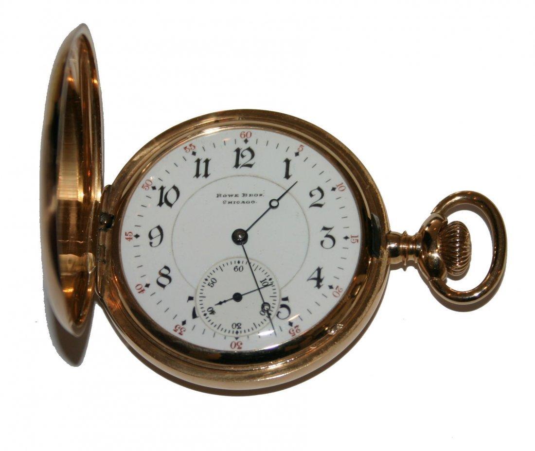 Rowe Bros14k Gold 17 Jewel Antique Pocketwatch (104208)