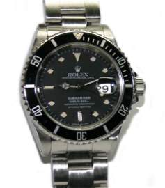 Men's Rolex Stainless Steel Submariner Black Dial/Face