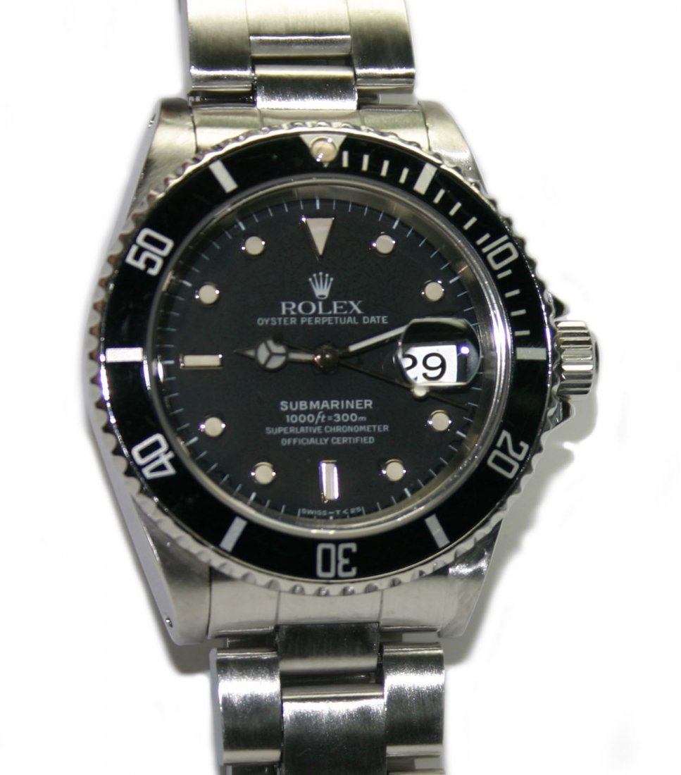 Men's Rolex Stainless Steel Submariner Black Dial/Face