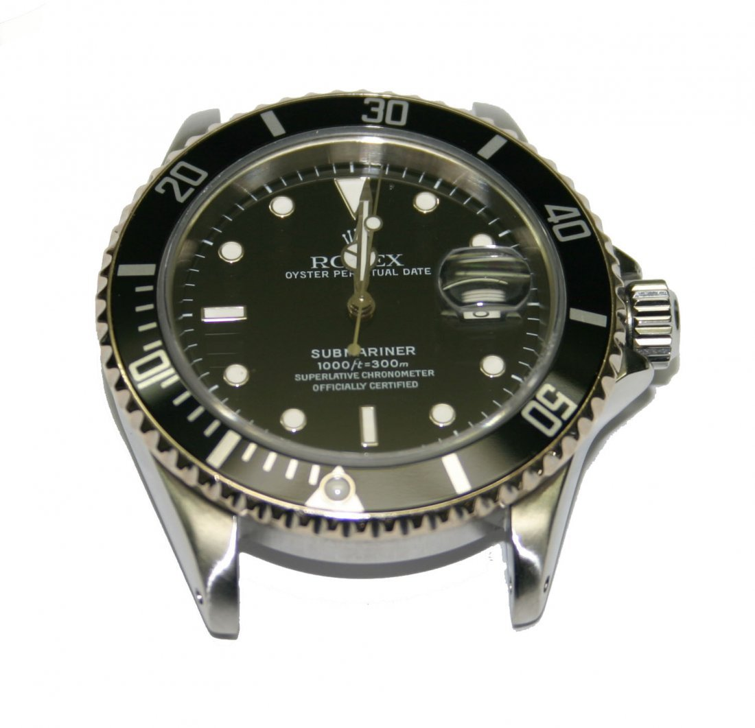 Men's Rolex-Stainless Steel Black Dial/Face Submariner