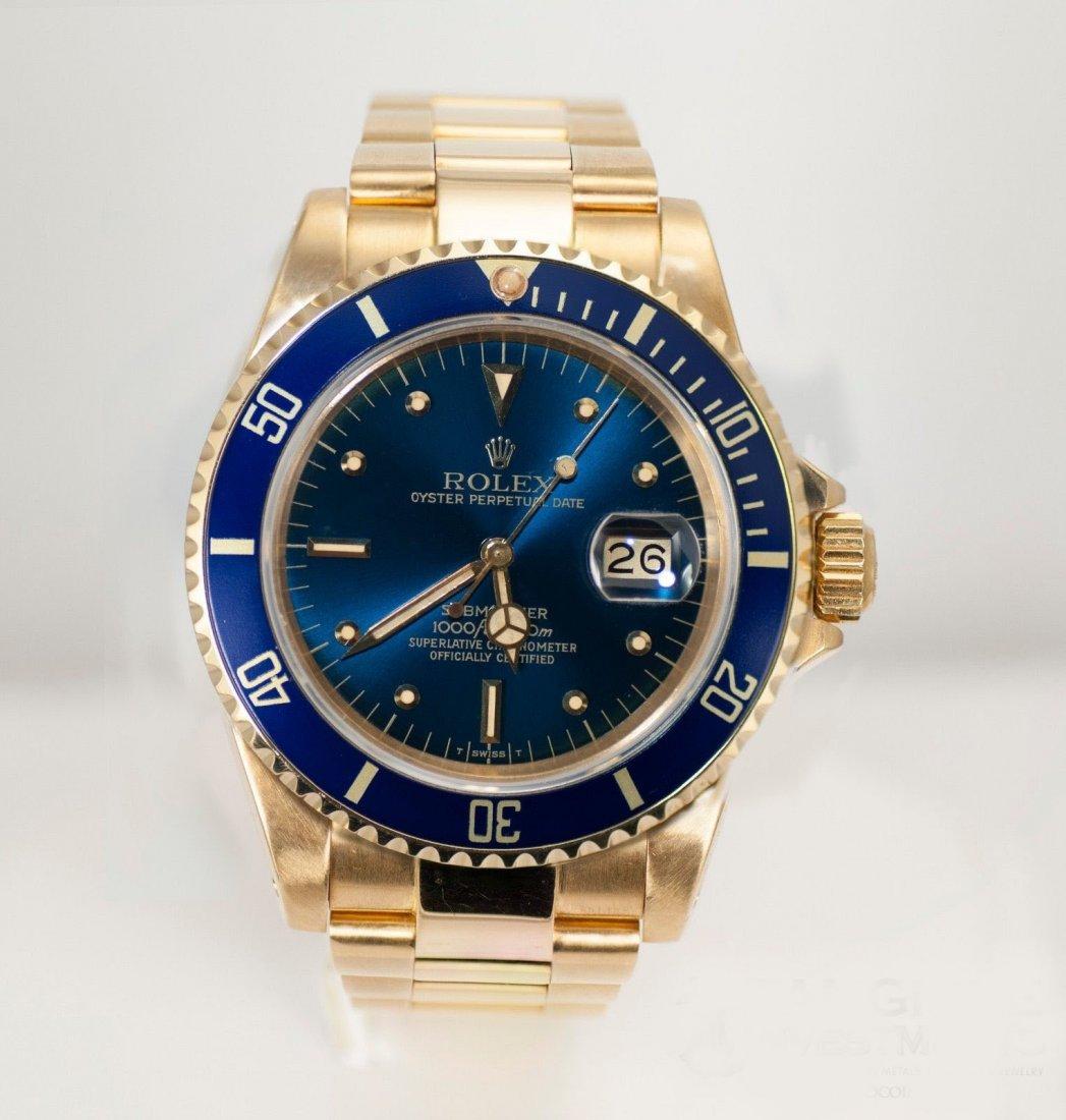 Rolex Submariner 18K Gold Watch - Excellent Condition,