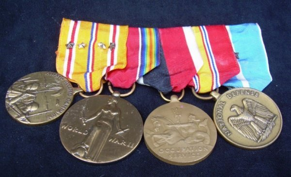 10: Adm. A. Burke's, Four medals