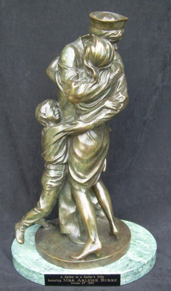 "13: Mrs. A. Burke's Solid Bronze ""Homecoming"" Statue"